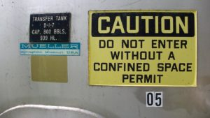 Caution! Do not enter without a confined space permit (Disclaimer)